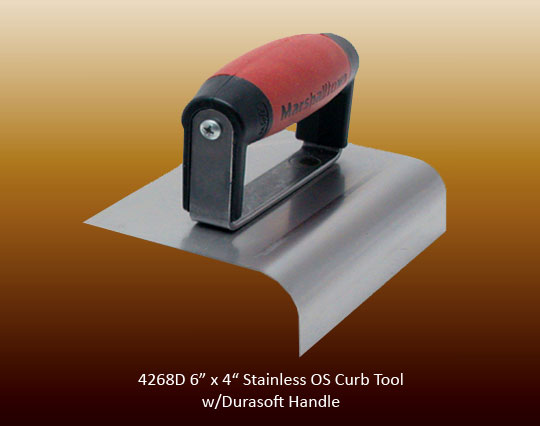 Stainless steel curb tool