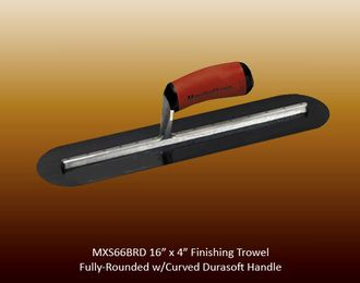 Fully-rounded finishing trowel